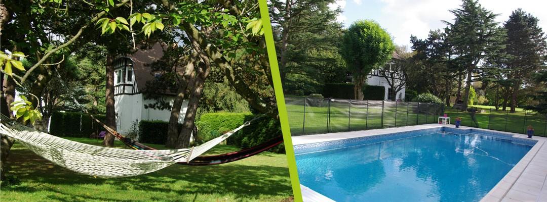 Maison d'hôtes Feucherolles - Photos du parc et de la piscine